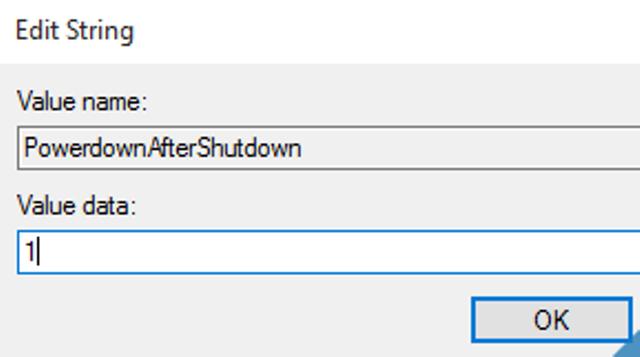 chỉnh regedit may tinh khong shutdown được