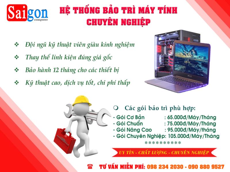 Sửa chữa máy tính Sài Gòn Uy Tín Chất Lượng
