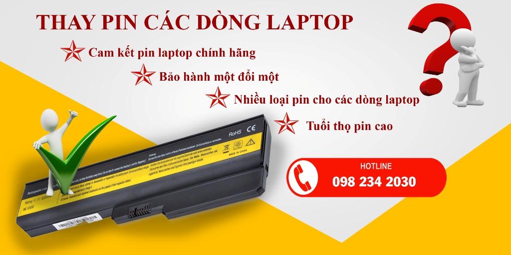 Thay Pin Laptop Lấy Liền