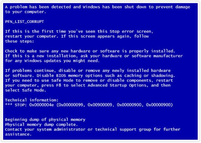Khắc phục lỗi a problem has been detected and windows has been shutdown to prevent damage to your computer