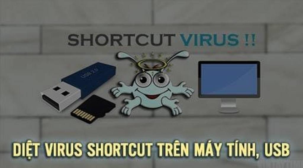 Máy tính bị virus shortcut