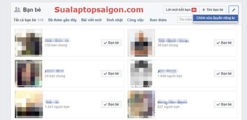 thiet laptop facebook